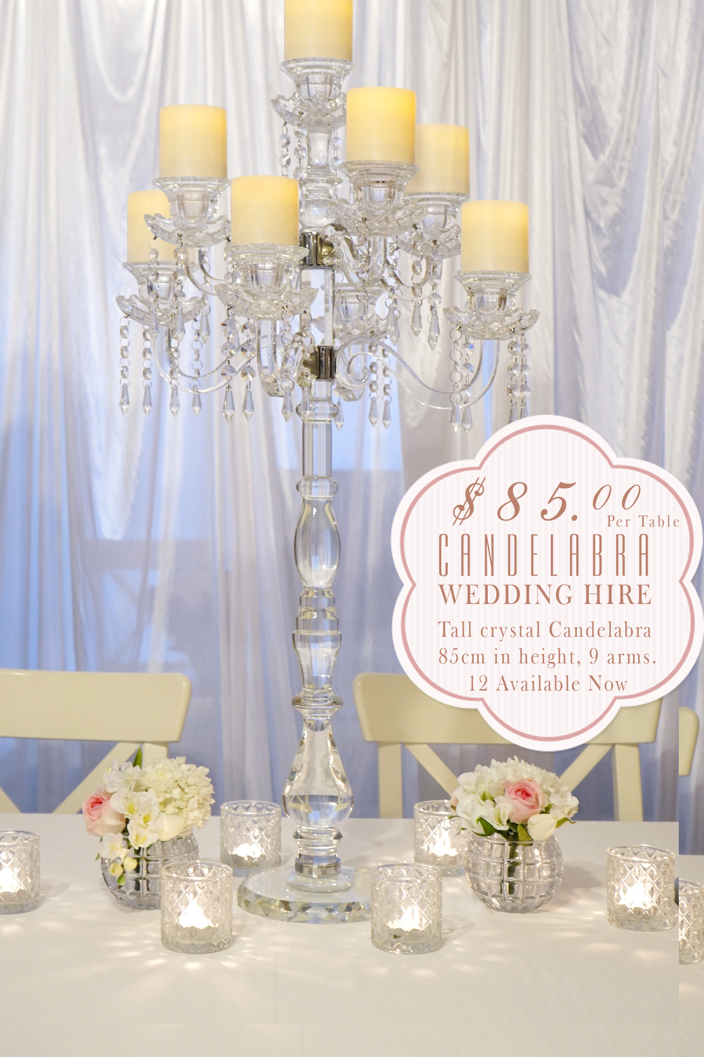 Wedding centerpiece hire wedding decorations by naz our range of beautiful wedding centrepiece hire and table decor available to hire our wedding and event centrepieces include round mirror bases junglespirit Gallery