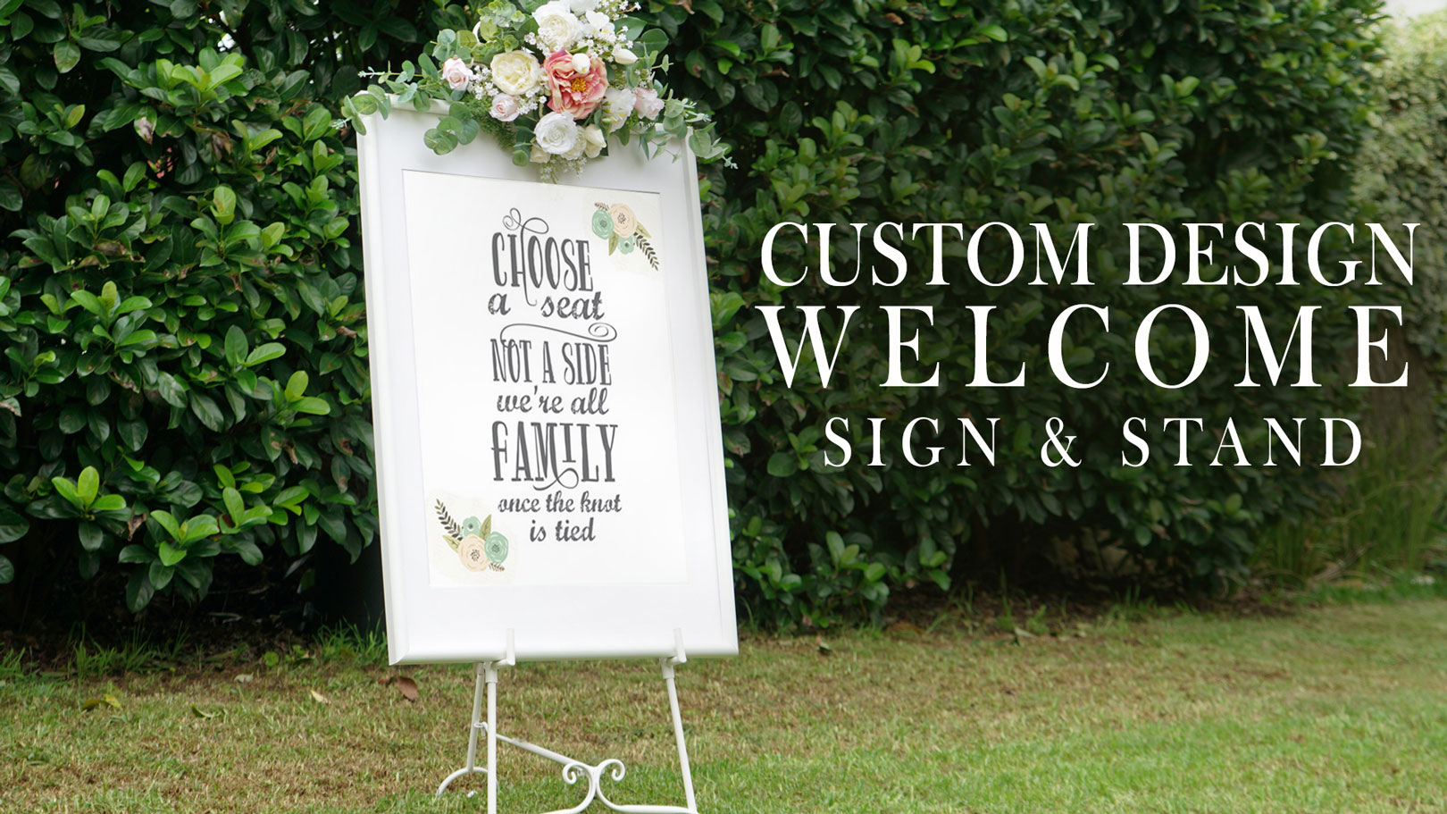 Wedding Easel Hire   Wedding Decorations By Naz