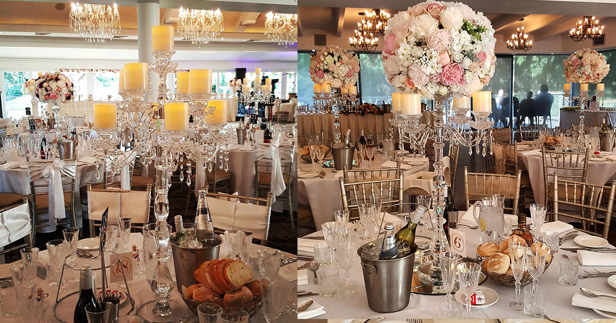 Wedding centrepiece hire archives wedding decorations by naz candelabra hire sydney junglespirit Image collections