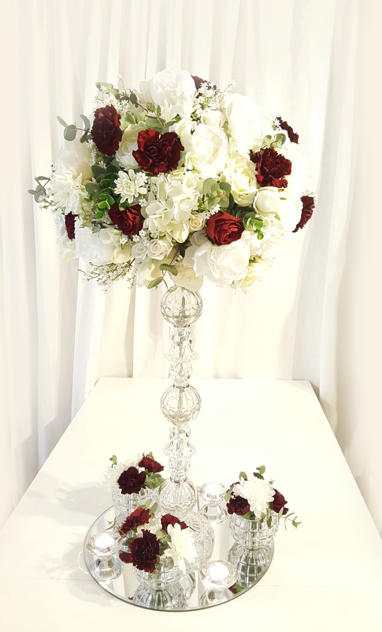 wedding centrepiece hire Archives - Wedding Decorations By Naz