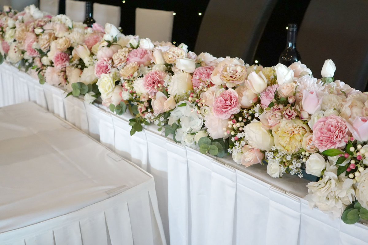 Bridal Table Silk Flower Runner Wedding Decorations By Naz